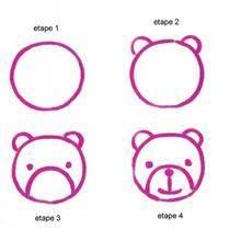 Leçon de dessin : Une tête d'ourson