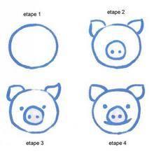 Leçon de dessin : Une tête de cochon