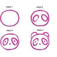 Leçon de dessin : Une tête de panda