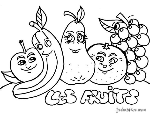 Coloriages coloriage de fruits cueillis - Fruits a colorier et a imprimer ...