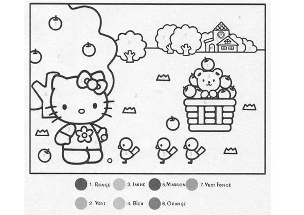 Coloriages hello kitty - Dessin de hello kitty facile ...