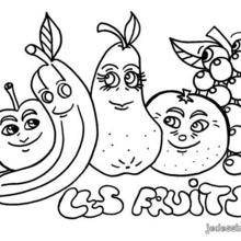 Coloriage Les Fruits.Coloriages Coloriage De Fruits Cueillis Fr Hellokids Com