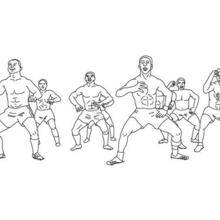 Coloriage : équipe rugby à colorier