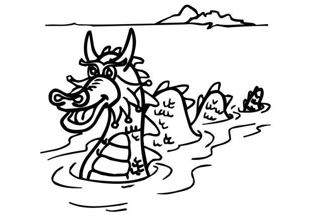 Coloriages coloriage d 39 un dragon dans l 39 eau - Dessin d un dragon ...