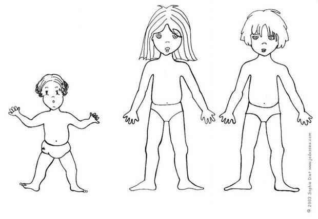 Coloriages coloriage d 39 enfants habiller - Dessin fille et garcon ...
