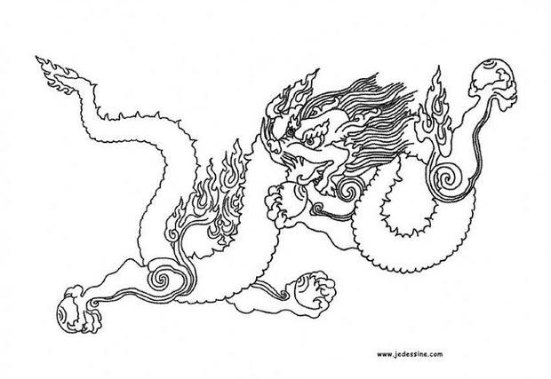 Coloriages Coloriage D'un Dragon