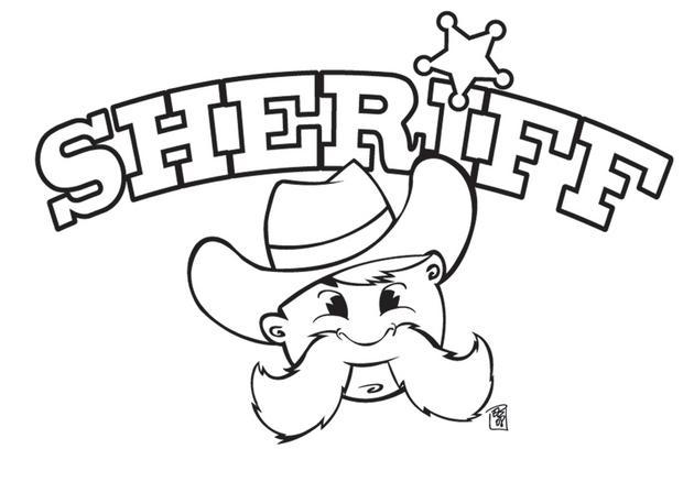 Coloriages Coloriage Du Sheriff Fr Hellokids Com