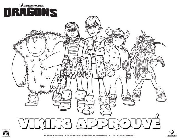 Coloriages groupe de vikings - Dessin de viking ...