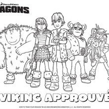 Coloriage : Groupe de Vikings