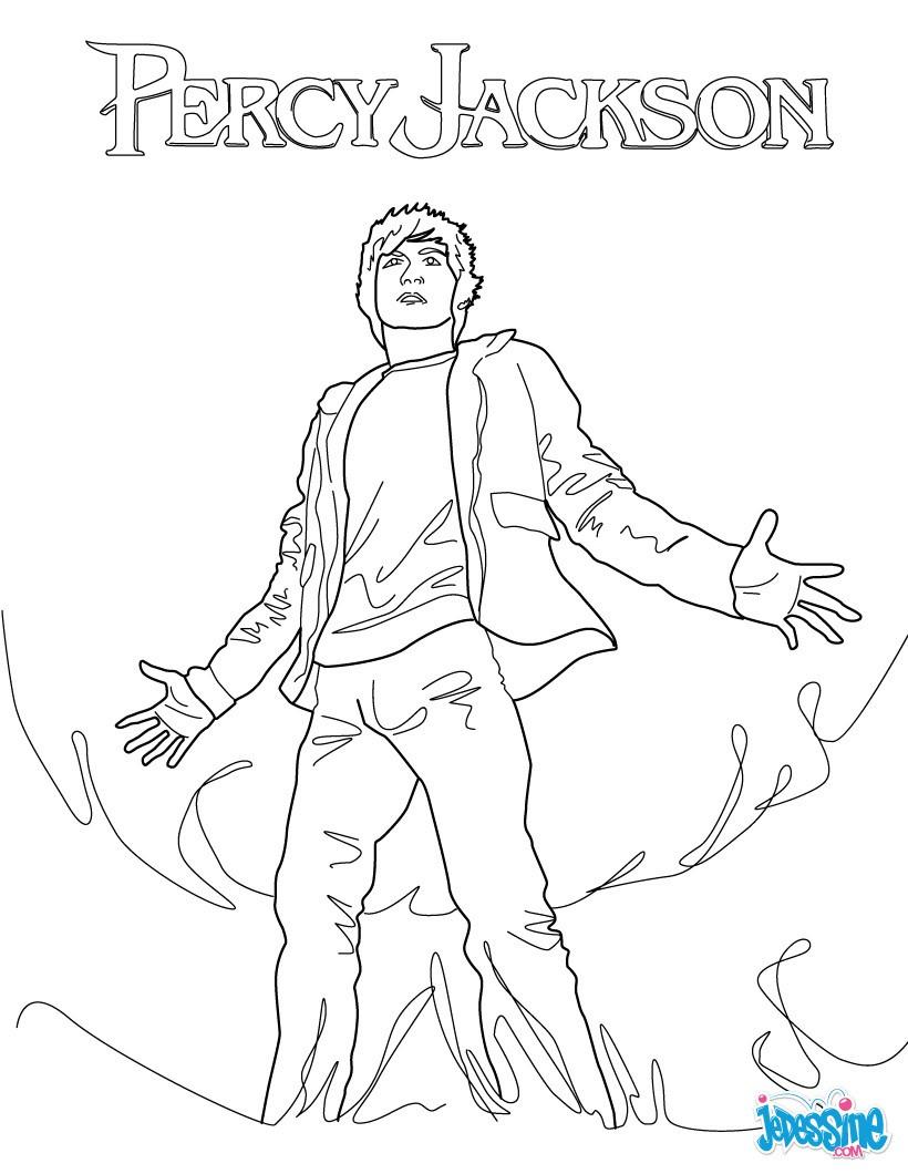 Coloriage Percy Jackson Le voleur de foudre