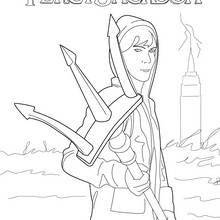Coloriage Percy Jackson : Le fils de Poséidon