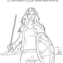 Coloriage Percy Jackson : Annabeth Chase