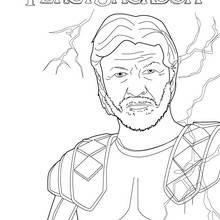 Coloriage Percy Jackson : Zeus