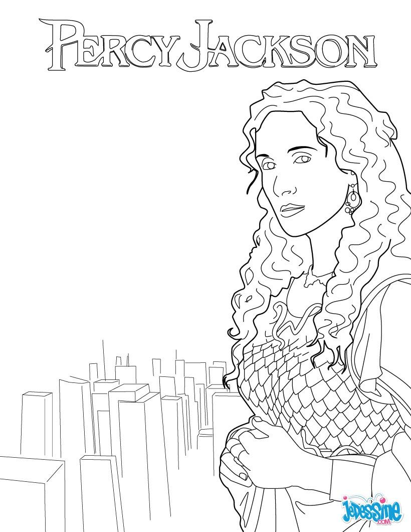 Coloriage PERCY JACKSON Coloriage Percy Jackson Athena