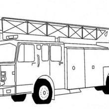 Coloriage d'un camion de pompiers
