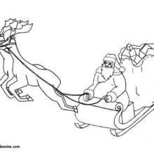 Coloriage du traîneau du Père-Noël