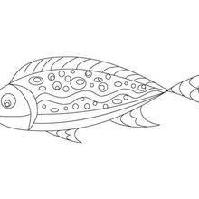 Coloriage poisson d'avril gratuit à imprimer