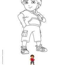 Coloriage : Diego prend la pose