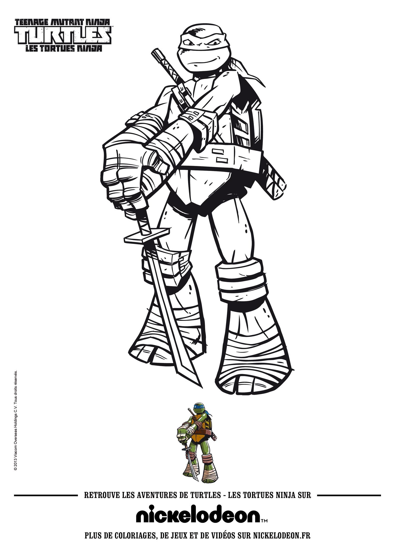 The Shredder and Ninja Turtle coloring page  Free