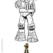 Coloriage : Raphael, la tortue ninja