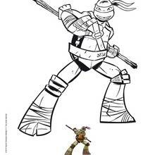 Coloriage : Donatello