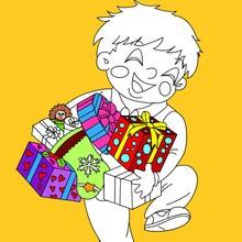 Coloriage des Cadeaux de Noël
