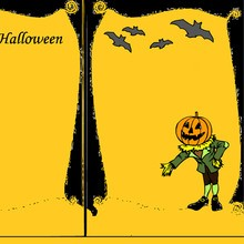 Coloriage CARTES INVITATION HALLOWEEN