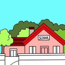 Coloriages de scènes d'école