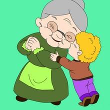 F te des grands m res activites manuelles coloriages dessins pour les enfants vid os et - Dessin fete des grand meres ...