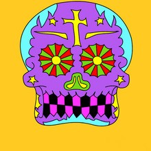 Coloriage FETE DES MORTS MEXICAINE