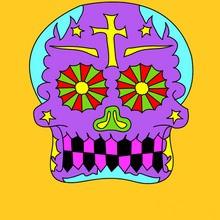 Coloriage FETE DES MORTS MEXICAINE
