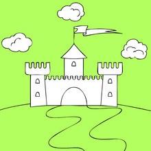 Ch teau coloriages lire et apprendre jeux en ligne - Dessin d un chateau ...