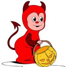 Coloriages Enfants déguisés pour Halloween
