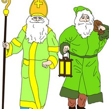 Noël, Coloriage de Saint Nicolas