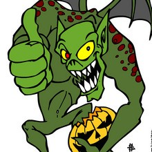 Coloriage MONSTRE HALLOWEEN