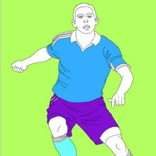 sport, Coloriage FOOTBALL
