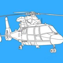 coloriages pour garçons, Coloriages Hélicoptères