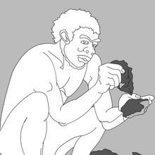 préhistoire, Coloriages Homo Habilis