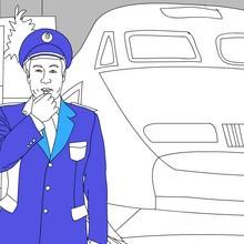 coloriages pour garçons, Coloriage METIER SNCF