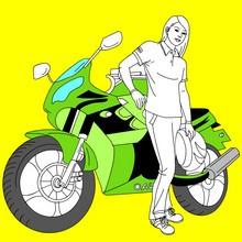 coloriages pour garçons, Coloriages de Motos