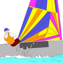 Coloriage SPORTS NAUTIQUES