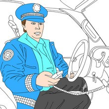 Coloriage POLICIER