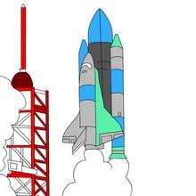coloriages pour garçons, Coloriages de vaisseaux de l'espace