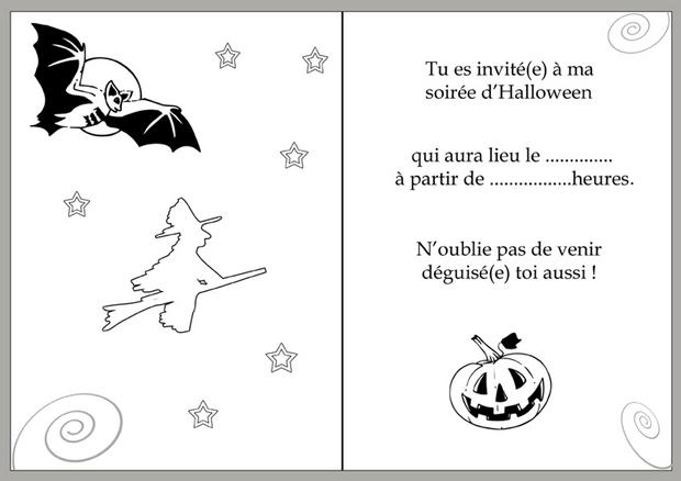 Carte d'invitation Halloween : La nuit d'Halloween