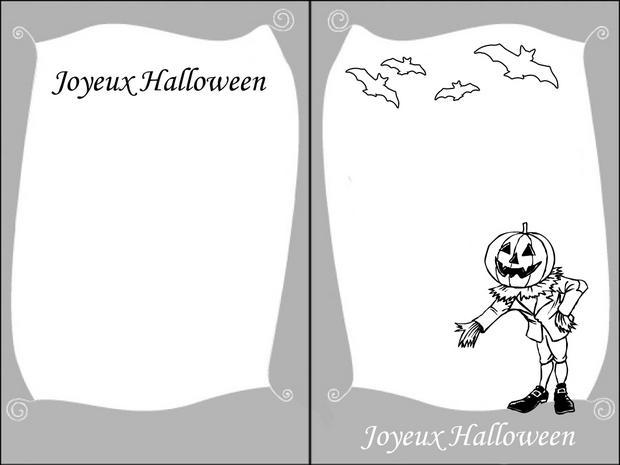 Coloriages jack o 39 lantern - Dessin invitation ...