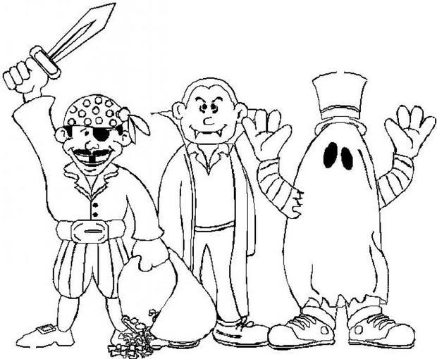 Coloriages enfants d guis s - Coloriages d halloween ...