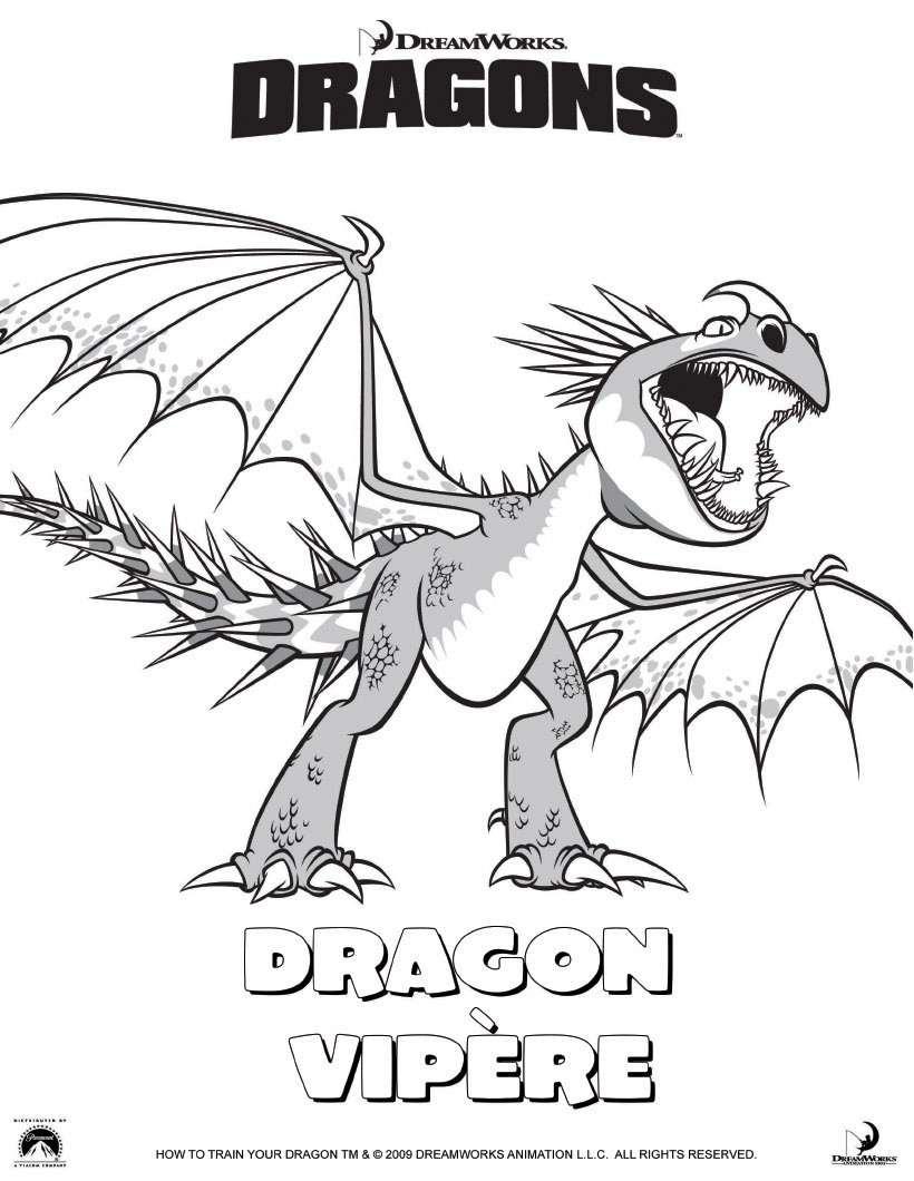 Coloriages dragon vip re - Coloriages de dragons ...