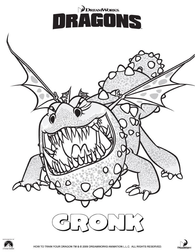 Coloriage Gronk le dragon