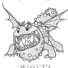 Coloriage : Gronk le dragon