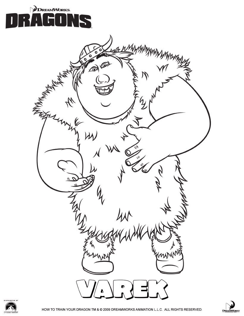 Gueulfor le Burp Coloriage Varek le viking